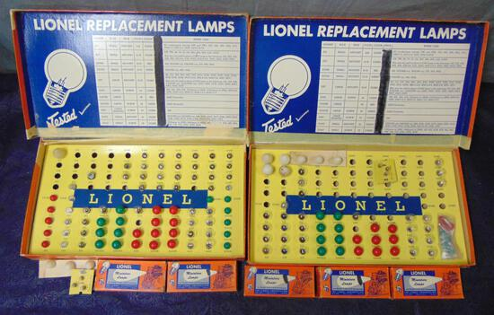 2 Lionel 123 Bulb Assortments, Plus