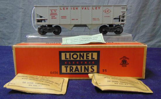 NMINT Boxed Lionel 6456-25 Gray LV Hopper