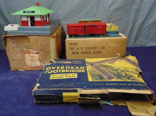 Boxed American Flyer 755, 771 & 748 Accessories