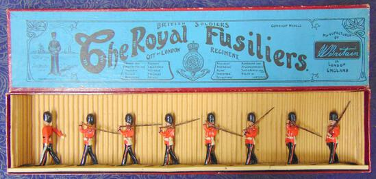 Britains #7 Royal Fusiliers Boxed.