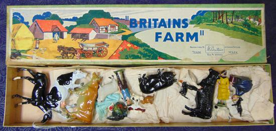 Britains. 36F Farm Set Boxed.