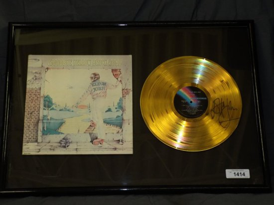 Elton John Autographed Gold Record