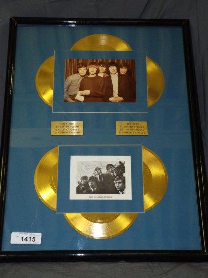1963 Rolling Stones Autographed Publicity Card