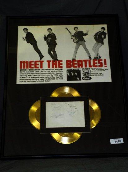 Beatles Autographs, All 4 Members