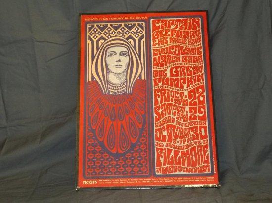 1966 Capt Beefheart BG-34 Fillmore Concert Poster