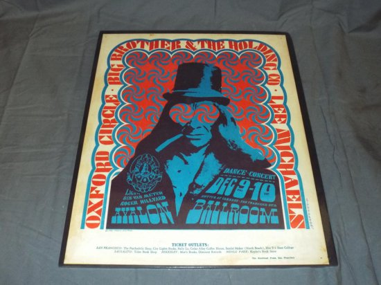 1966 Big Brother Holding Co. FD-38 Concert Poster
