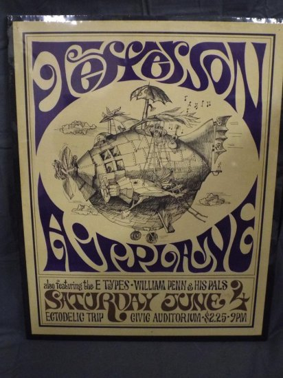 1966 Jefferson Airplane AOR-2.134 Concert Poster