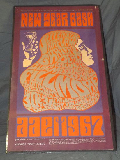 1966 New Year Bash BG-37 Concert Poster