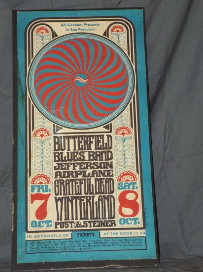 1966 Paul Butterfield Blues Band BG-30 Poster