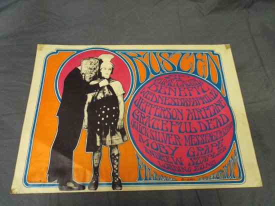 1967 Jefferson Airplane AOR-2.71 Concert Poster