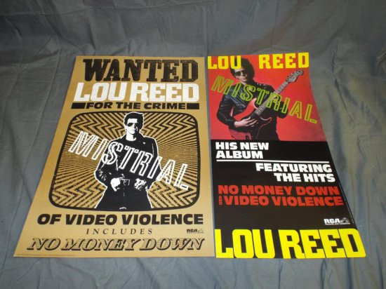 """(2) Lou Reed """"Mistral"""" RCA Promo Posters"""