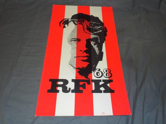 RFK Kennedy 1968 Campaign Poster