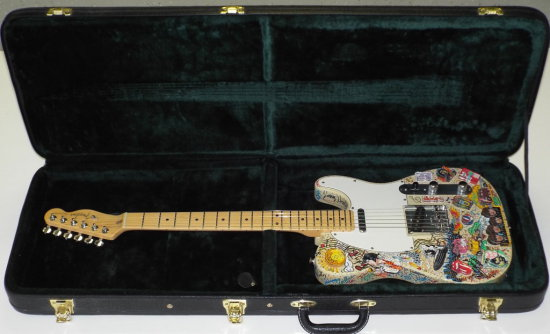 Charles Fazzino, 3D Pop Art Fender Guitar
