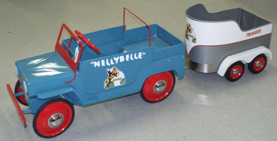 ROY ROGERS NELLE BELLE PEDAL CAR LICENSE PLATE NEW