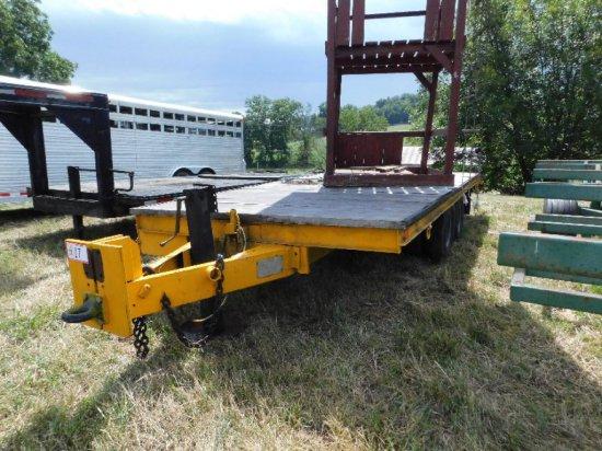 Custom Built Equipment Trailer 18' Tandem Axle