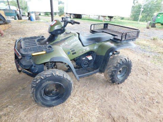 Polaris Sportsman 500 4WD ATV, W/4750 Miles