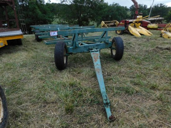 6-Wheel Round Bale Hay Wagon