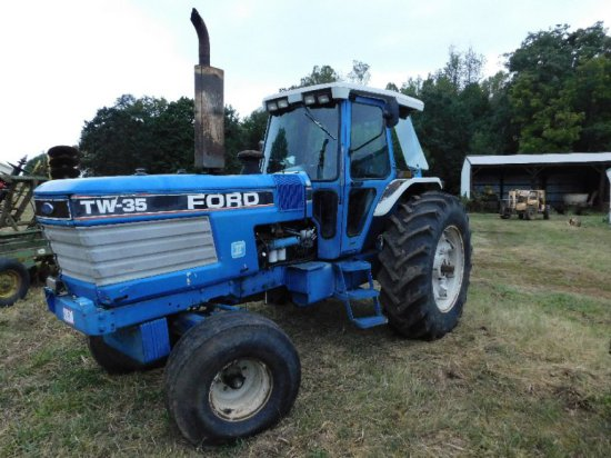 Ford TW35 Tractor, Cab Heat/Air, Front Weights, (3) Remotes, 2928Hrs