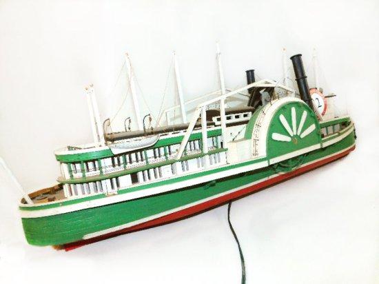 """Wooden Steamship 39""""L x 14""""H x 10.5"""" w"""