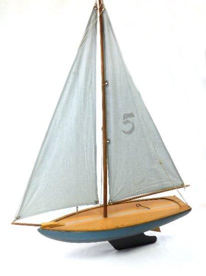 "Decorative Wooden Sailboat 29""L x 39""H x 7""w"