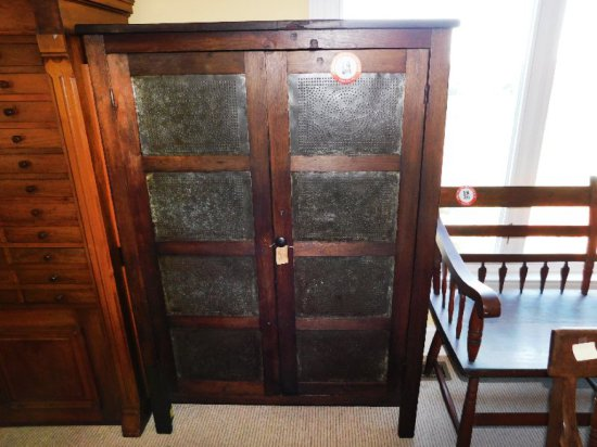 Antique Country Pie Safe, Poplar Wood, circa late 1800's