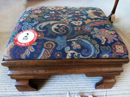 Wood Framed, Cushion Top Footstool