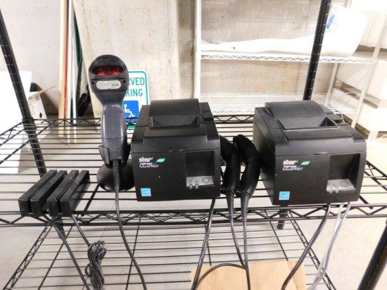 (2) Star TPS Receipt Printers, (3) Bar Code Readers,