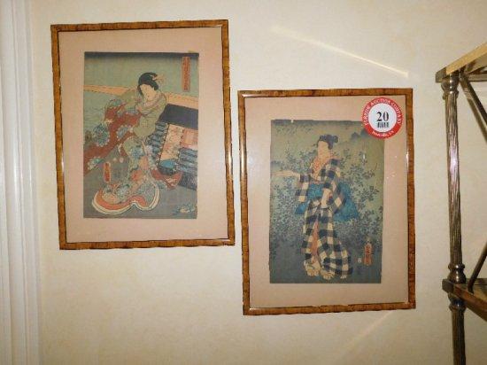 (2) Framed Oriental Prints