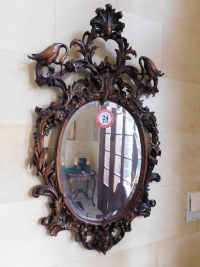 Decorative Framed, Beveled Glass Mirror