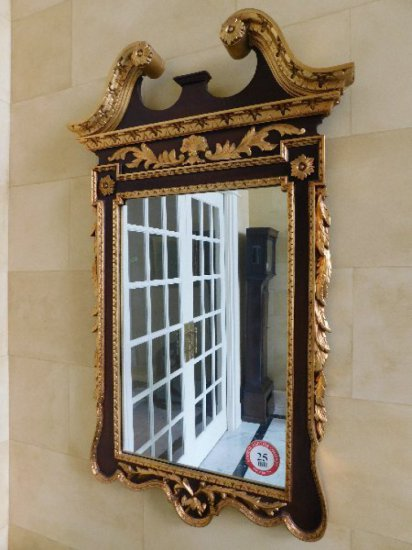 Federal Style, Gilded Gold & Walnut Framed Mirror