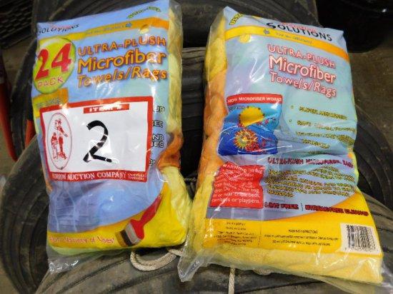 (2) Bags (24 ea) Microfiber Rags