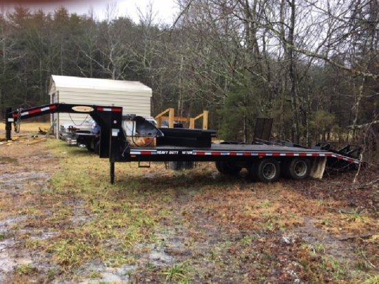 2014 Econoline Gooseneck Equipment Trailer, Mdl. 42E, Dual Tandem, 10-Ton,