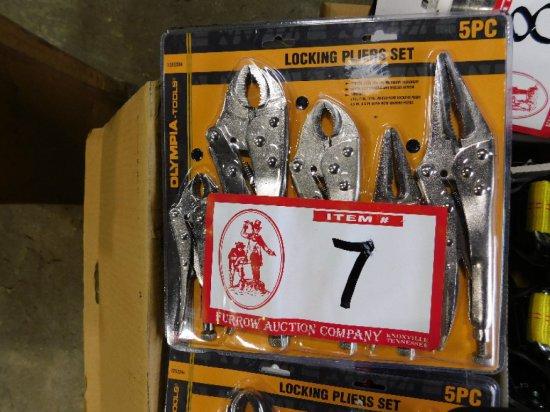 Olympia Tools 5-Piece Locking Plier Set