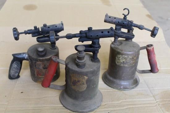 (3) Vintage Blow Torches