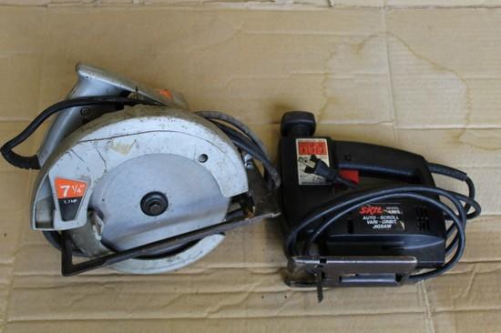 JC Penny Electric Circular Saw & Skil Electric Jig Saw