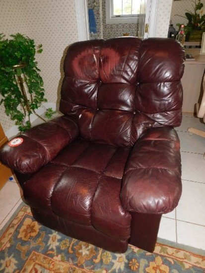 Leather Upholstered Recliner