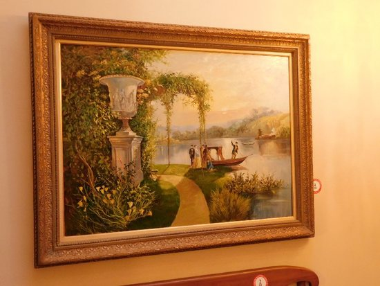"Decorative Framed Oil On Canvas, Signed Brievitine, 56"" x 43"""