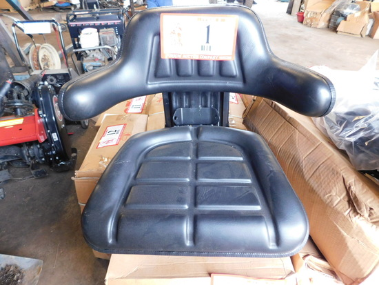 Waffle Type New Tractor Seat Assembly, Black