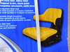 Waffle Type New Tractor Seat Assembly, Yellow