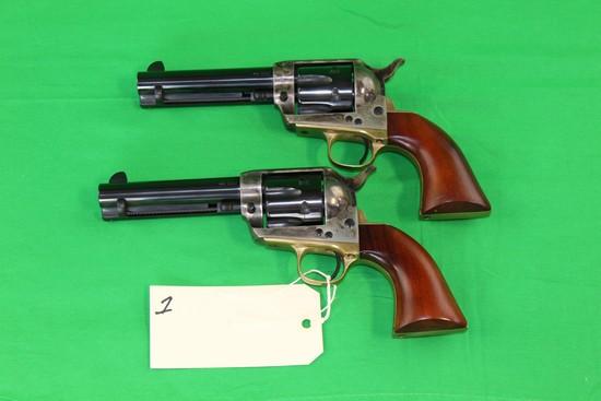 """(2) Armi San Marco Model """"El Pistolero"""".45 Colt Revolver s/n's 882,883"""