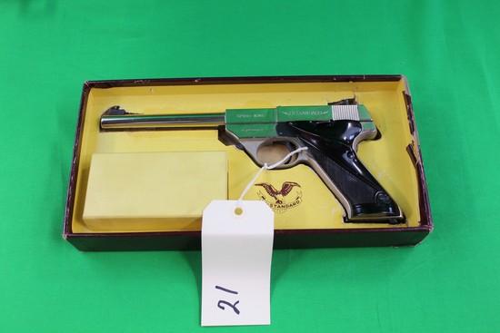 Hi-Standard Sport King .22 Automatic, Brushed Nickel, Lightweight, SK-100,