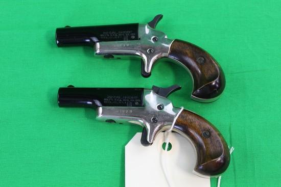 (2) Colt .22 Cal Single Shot Butler Derringers 6182D & 6183D