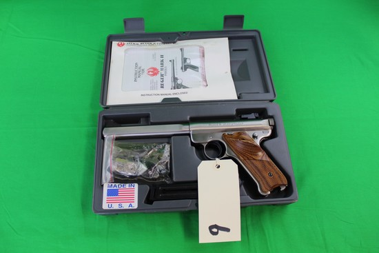 Ruger .22 Automatic Pistol, Mark II Target Brushed Stainless s/n 218-505-72