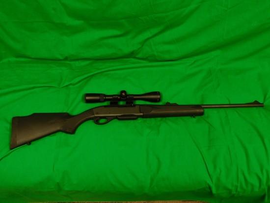 Remington Model 7400 Bolt Action Rifle, 30.06 w/ Nikon Buckmaster Scope Bur