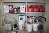 Contents of Shelves, Oils and Cleaning Chemicals