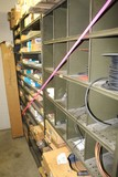 Contents of (3) Sections of Shelving, Hose, Wire, Copper Line, Switches, Wi