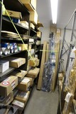 Contents of (3) Sections Shelving & Floor In Front, Various Ford Body Parts