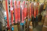 (1) Section of Shelving and Contents, Fuel Filler Necks, Dip Sticks, Shafts