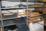 Contents of (4) Sections of Shelving & Floor, Vent Shades For Trucks, Floor