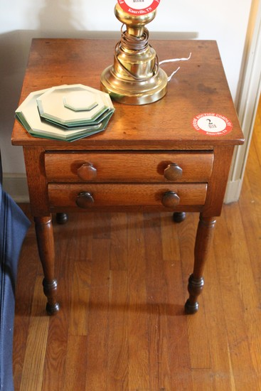 Decorative Wooden Side Table w/ 2 Drawers